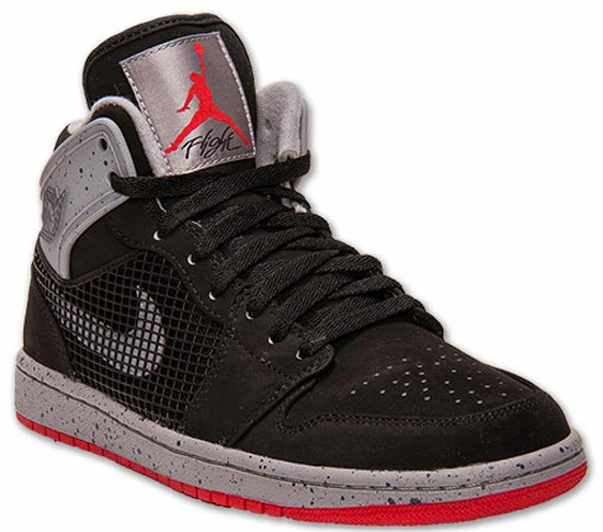 e92d72fd6b6 This Air Jordan 1 Retro '89 comes in an Air Jordan IV inspired black, fire  red and cement grey. They feature a black based nubuck upper with fire red  and ...