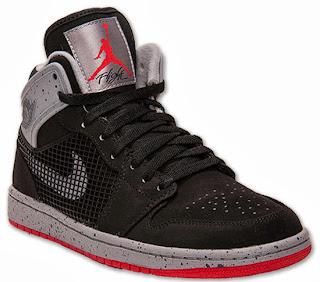 the best attitude ae43e f848e This Air Jordan 1 Retro  89 comes in an Air Jordan IV inspired black, fire  red and cement grey. They feature a black based nubuck upper with fire red  and ...