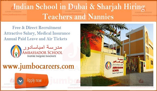 Latest school jobs in UAE,  Teaching jobs in Dubai for Indian Females
