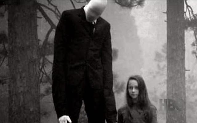 criança levada para a floresta pelo slenderman
