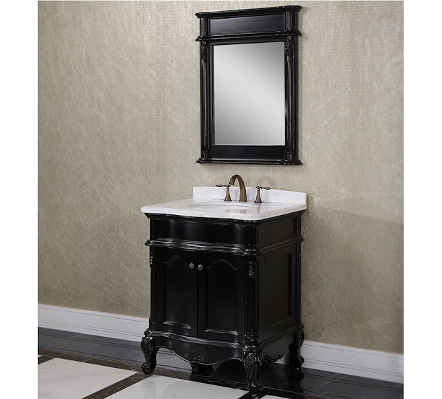 Antique Bathroom Vanities Lux Look With Black Bathroom Vanities