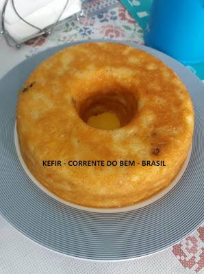 PUDIM DE PÃO COM KEFIR DE LEITE