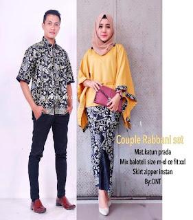 model baju batik wanita muslim terbaru