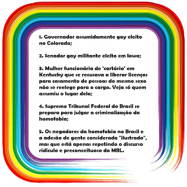 d45d5b53ec Babados LGBT desta semana (04 a 09 de novembro)
