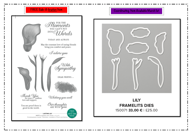 Nigezza Creates Stampin' Up! Lovely Lilies and Lilly Framelits
