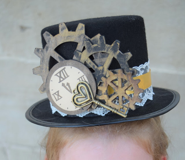 Step by step tutorial on how to make a steampunk hat for use with a costume or dressing up for cosplay.