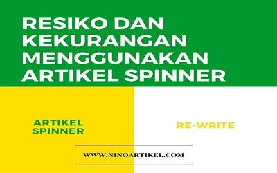 Kekurangan Menggunakan Artikel Spinner