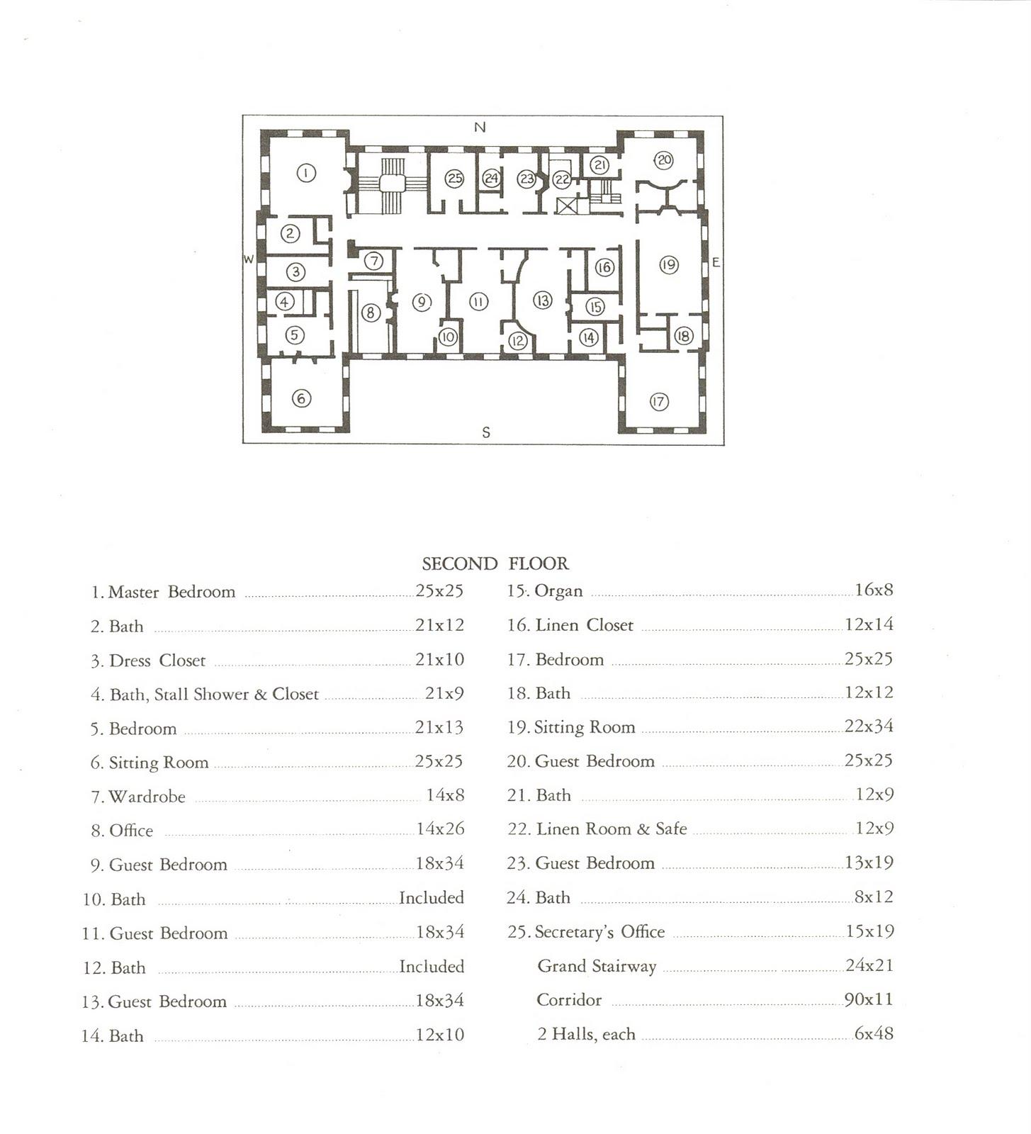 Old Westbury Gardens Floor Plan: Old Long Island: 'Rose Terrace'