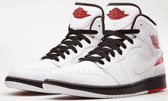 separation shoes 26e51 a90b5 This Air Jordan 1 Retro  86 comes in a white, gym red and black colorway.  Inspired by an original colorway of the Air Jordan II.
