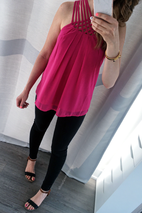 Pink Tank, Black Jeans, Summer Date Night outfit - Tori's Pretty Things Blog