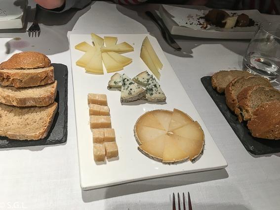 selección de quesos. Restaurante Zarate. Bilbao