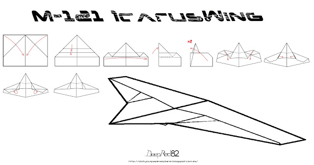 Infografía avión de papel M-121 IcarusWing