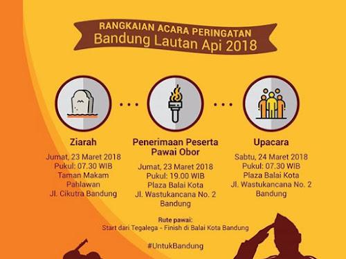 Rangkaian Acara Peringatan Bandung Lautan Api 2018