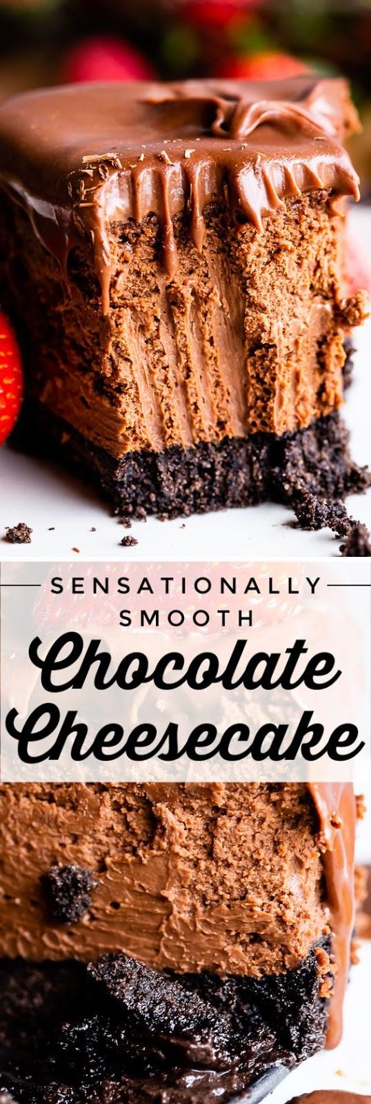 Sensationally Smooth Chocolate Cheesecake