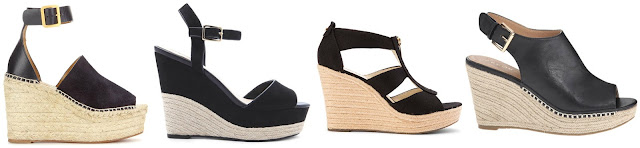 A trend I have noticed that will be showing up this spring/summer are espadrille wedges. One of these pairs is from Chloe for $566 and the other three are under $100. Can you guess which pair is from Chloe? Click the links below to see if you are correct!