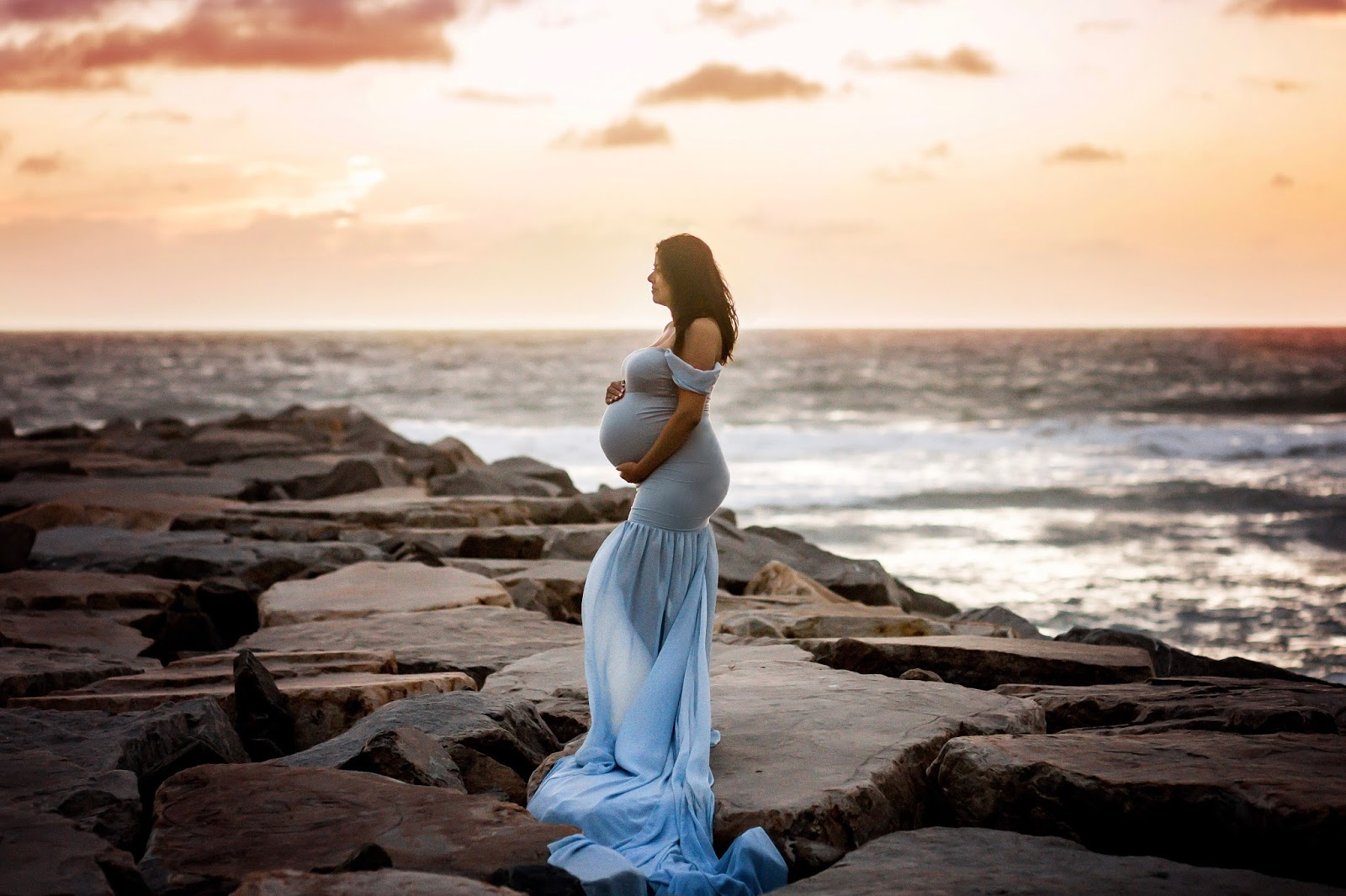 Sunset Maternity Photoshoot, san diego maternity photographer