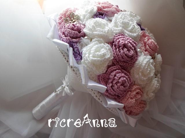 Tutorial Bouquet Sposa.Ricreanna Handmade Il Bouquet Della Sposa All Uncinetto