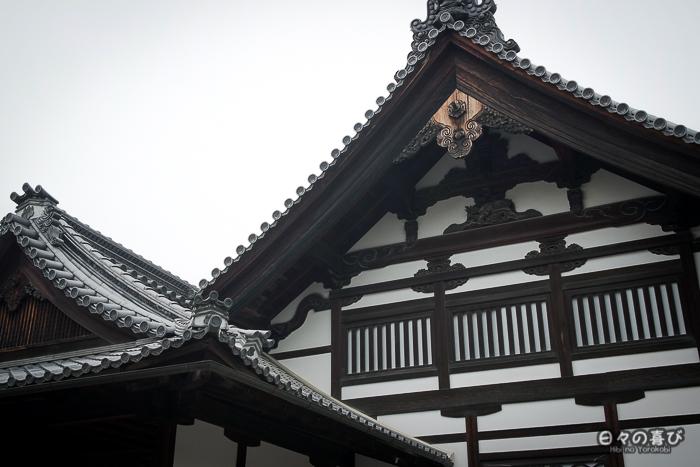Toits du temple Ryoan-ji, Kinkaku-ji, Kyoto