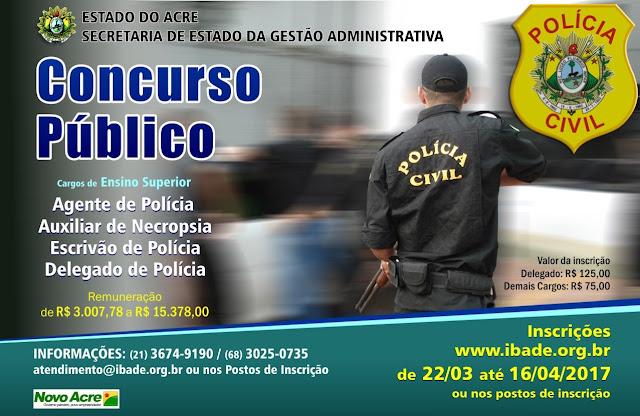 Resultado dos pedidos de isenção do concurso da polícia civil é divulgado