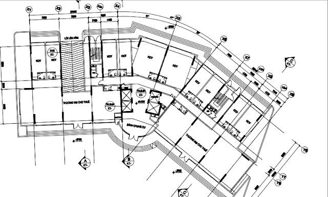 Mặt bằng tầng 1 tòa T1 chung cư B1.3 Thanh Hà