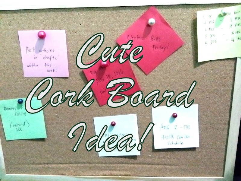DIY: Simple Cork Board Idea