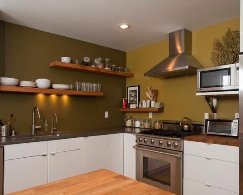 10 Desain Warna Cat Dinding Dapur Yang Cantik Miinimalis