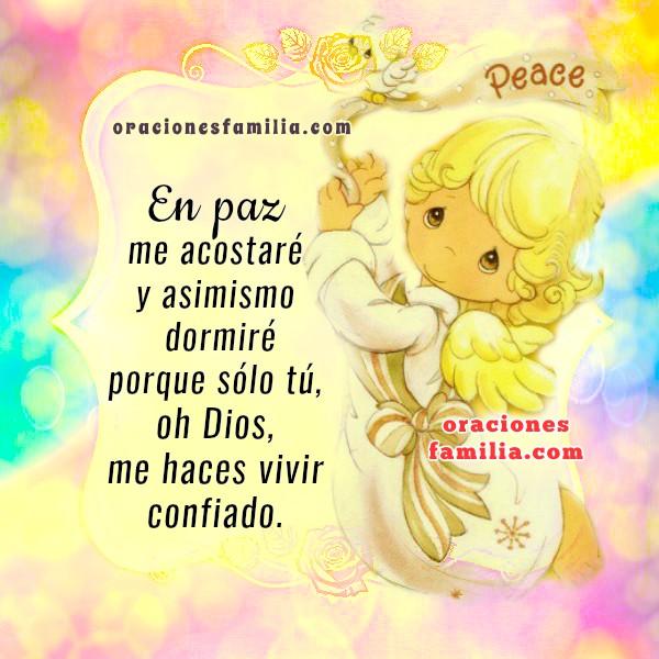 Oración de la noche, imágenes cristianas de oracion y salmo para dormir, oración cristiana por Mery Bracho