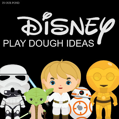 Easy and Magical Disney Play Dough Ideas // In Our Pond // Star Wars Week // May the Fourth // disney // playdoh // busy box // quiet time // quiet play // play dough kit