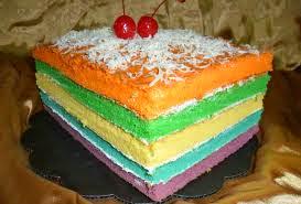 Resep Rainbow Cake Panggang