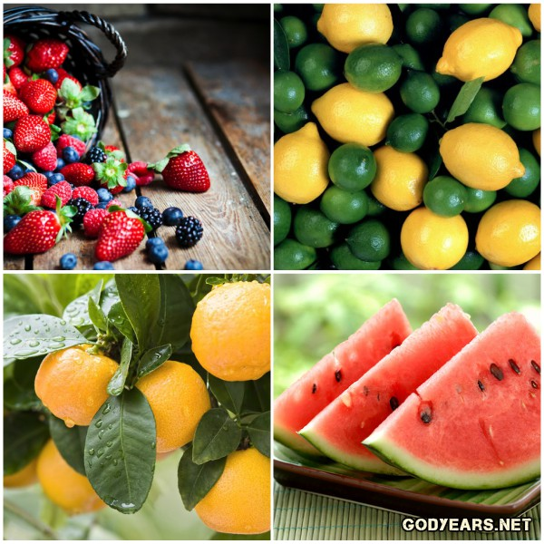 In addition to being vitamin rich, citrus fruits and berries aid in digestion, building immunity and weight loss