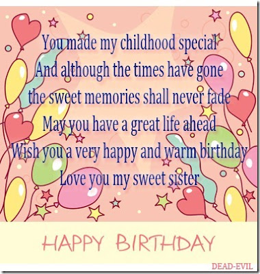 Happy Birthday Wishes And Quotes For the Love Ones: you made my childhood special