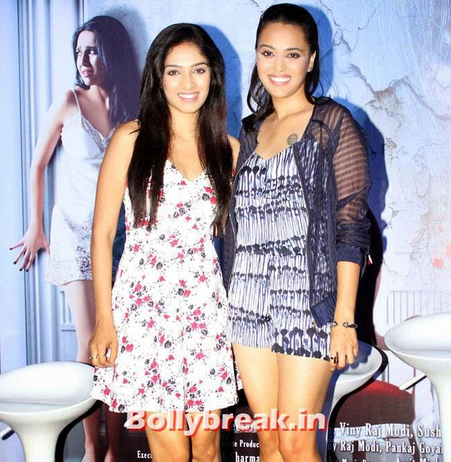 Hritu Dudani and Swara Bhaskar, Swara Bhaskar, Kavita Kaushik at Machhli Jal Ki Rani Hai Trailer Launch