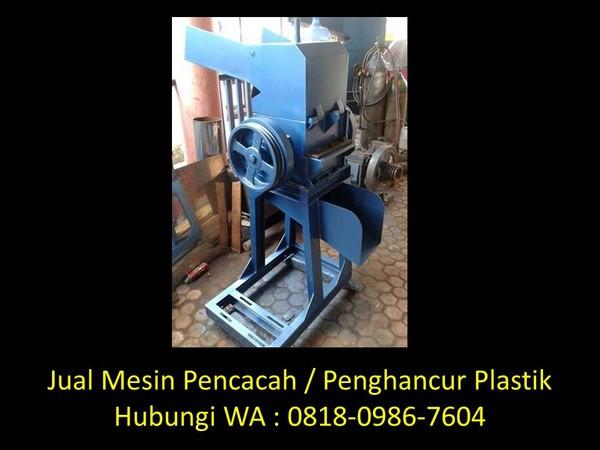 desain mesin pencacah plastik di bandung
