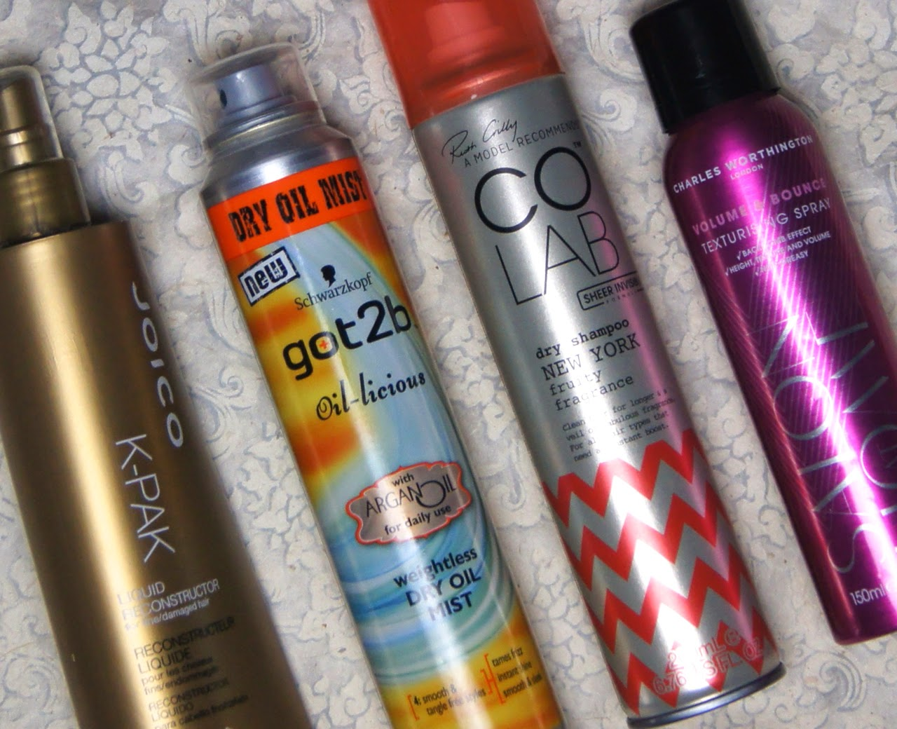 2014 haircare favourites leave-in conditioner dry shampoo texturizing spray dry oil mist
