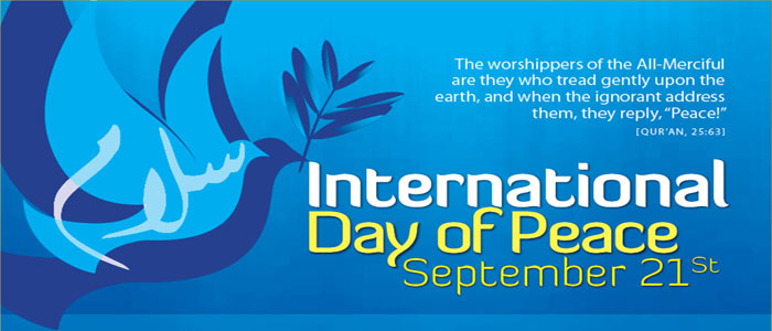 Quotes About World Peace Day: Today Is International Peace Day. Lets Celebrate By