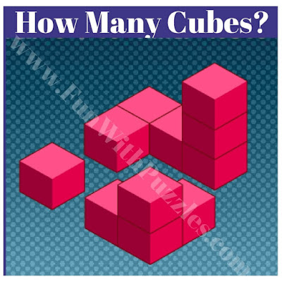 How many cubes are there in picture puzzle?