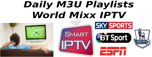 New Smart IPTV M3U Playlist 07 October 2018