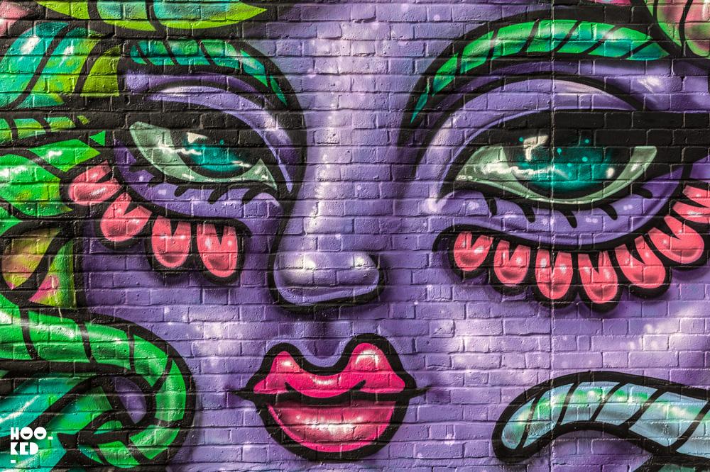 Amara Por Dios Star Yard Mural in London,UK. Photo ©Hookedblog / Mark Rigney