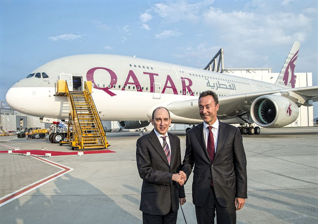 a380 qatar delivery