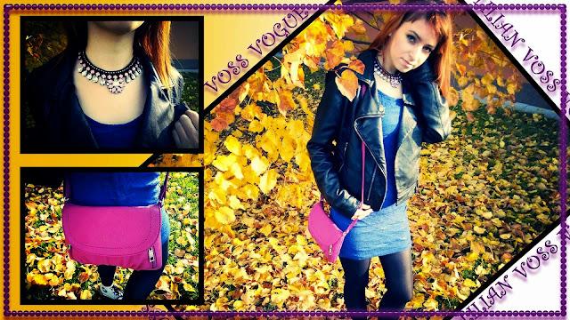 7. Outfity - listopad - Krajkove saty a krivak