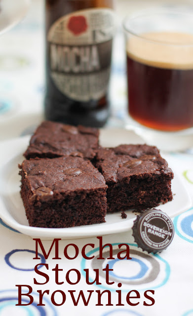 Food Lust People Love: Mocha Stout brownies are rich and chocolaty with a subtle deep flavor from the stout. I used Bateman's Mocha Stout which is available here in Dubai, but you can substitute your own favorite local brew.