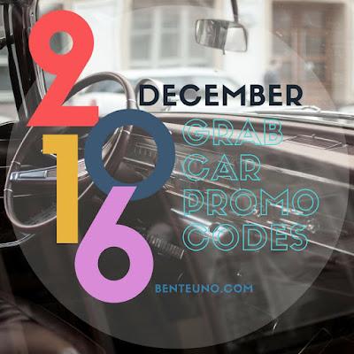 GrabCar Promo Codes for December 2016