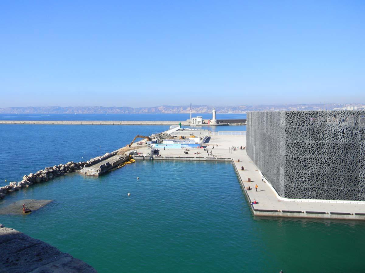 MuCEM, le vieux port de Marseille, automne