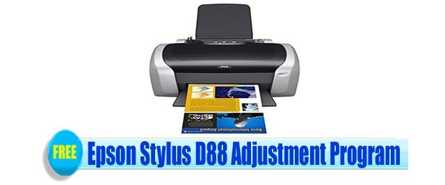 Epson Stylus D88 Adjustment Program