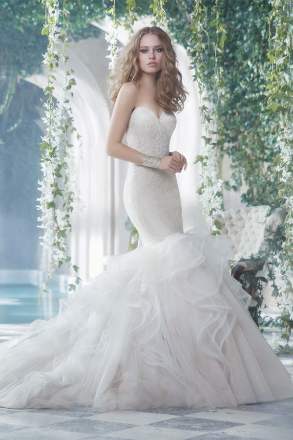 25e91d0bf00f9 Small make up today to bring us romantic fishtail wedding dress the latest  version, see if you like.