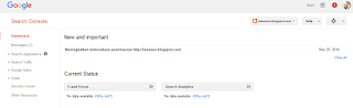 Gambar tampilan webmaster google