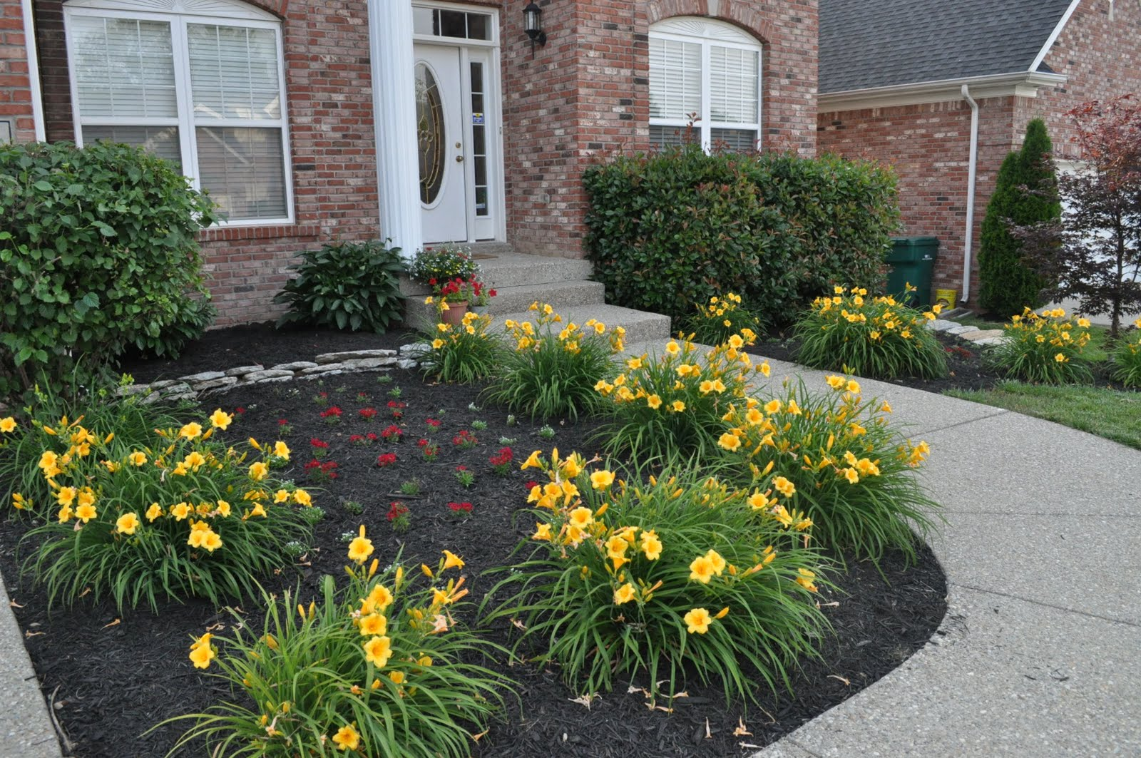 Front yard reveal emily ann interiors for Best plants for flower beds