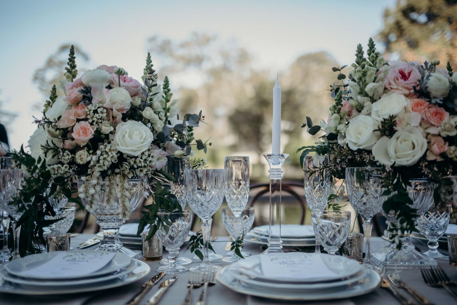 STYLED: LUXE GARDEN RECEPTION |  WEDDING TABLESCAPE STYLING GOLD COAST QLD