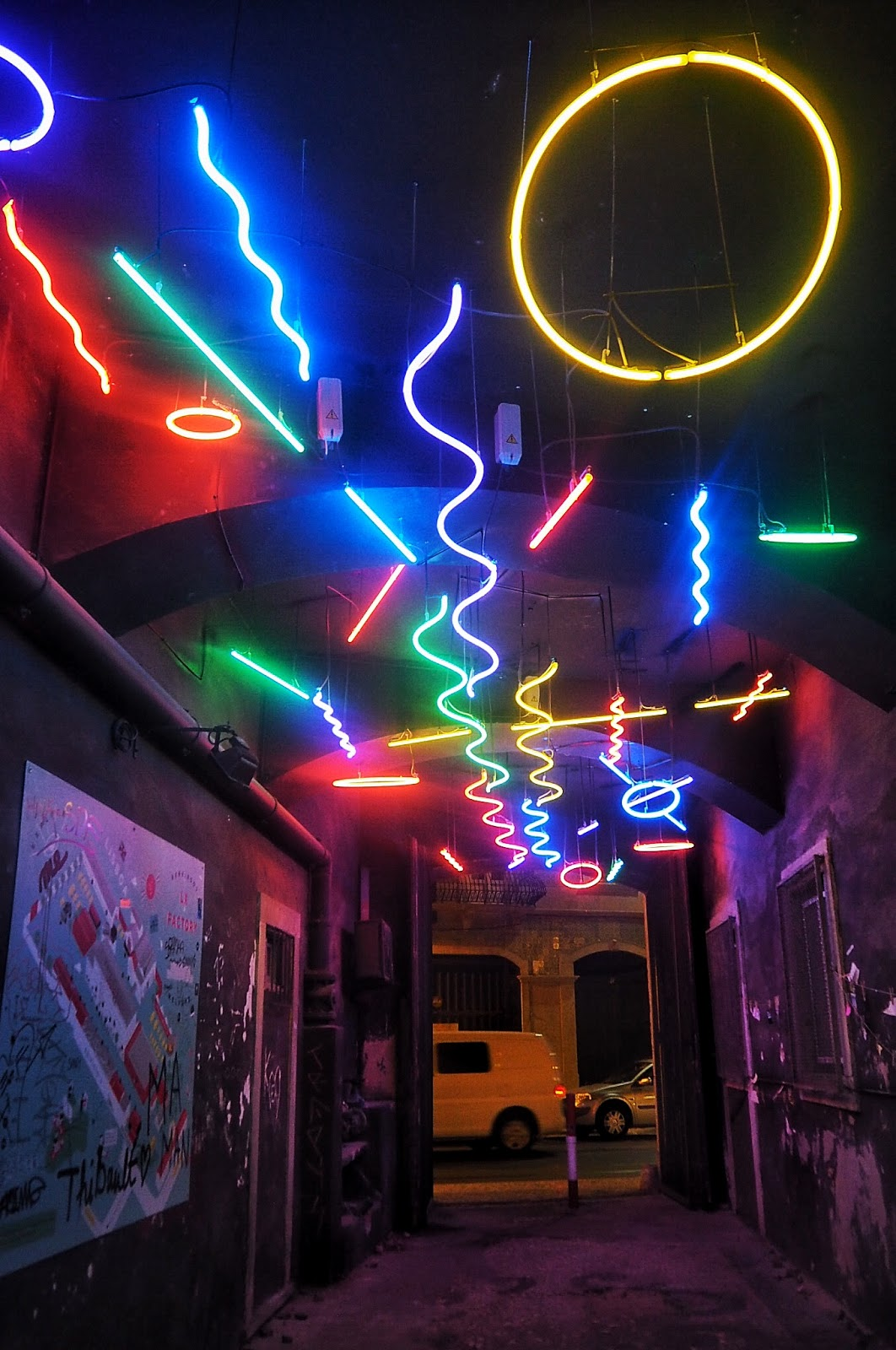 Neon Lights lighting the way at LX Factory Lisbon
