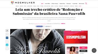 """Livro de Nana Pauvolih é destaque no site da Revista """"Nova Cosmopolitan"""" - Portal M de Mulher"""